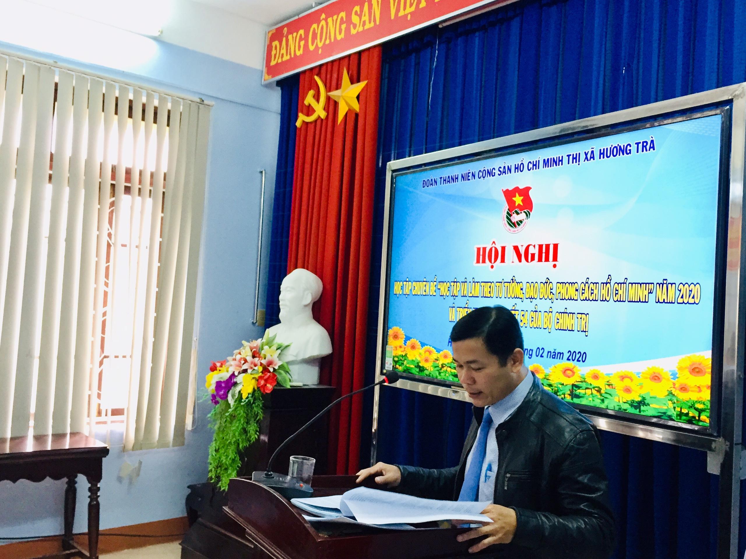 Tổ chức Hội nghị học tập chuyên đề năm 2020, triển khai Nghị quyết 54 của Bộ Chính Trị và tập huấn, bồi dưỡng nghiệp vụ công tác Đoàn.