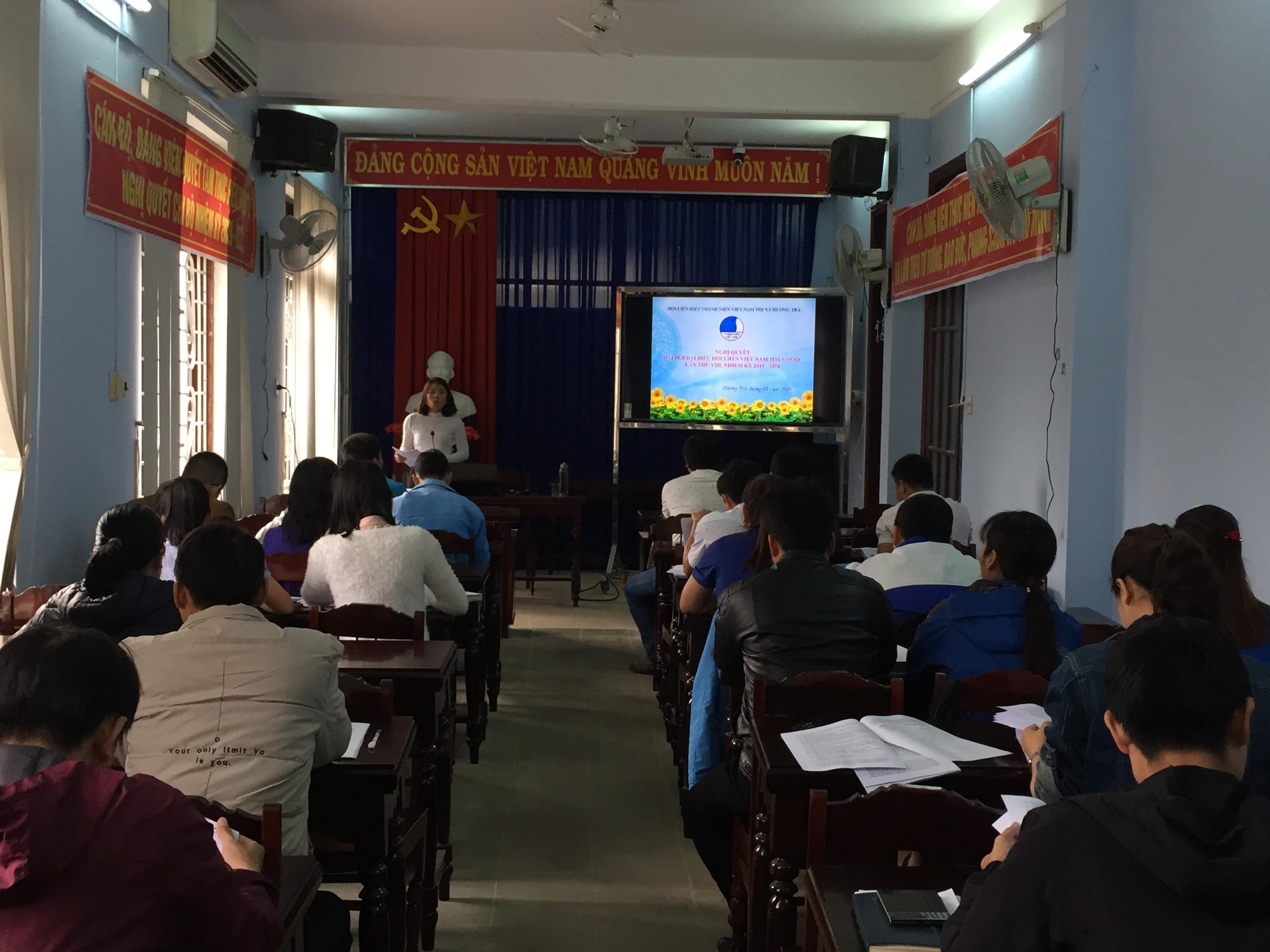 Hội nghị học tập, quán triệt Nghị quyết Đại hội Hội LHTN Việt Nam các cấp, nhiệm kỳ  2019 - 2024 và góp ý văn kiện Đại hội Đảng bộ thị xã Hương Trà, nhiệm kỳ 2020 – 2025.