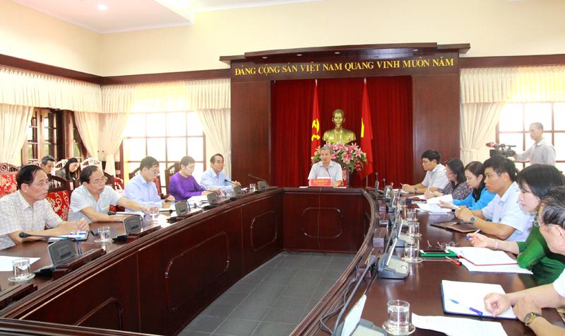 Kết luận của Thường trực Tỉnh ủy tại cuộc họp về công tác phòng, chống dịch COVID-19