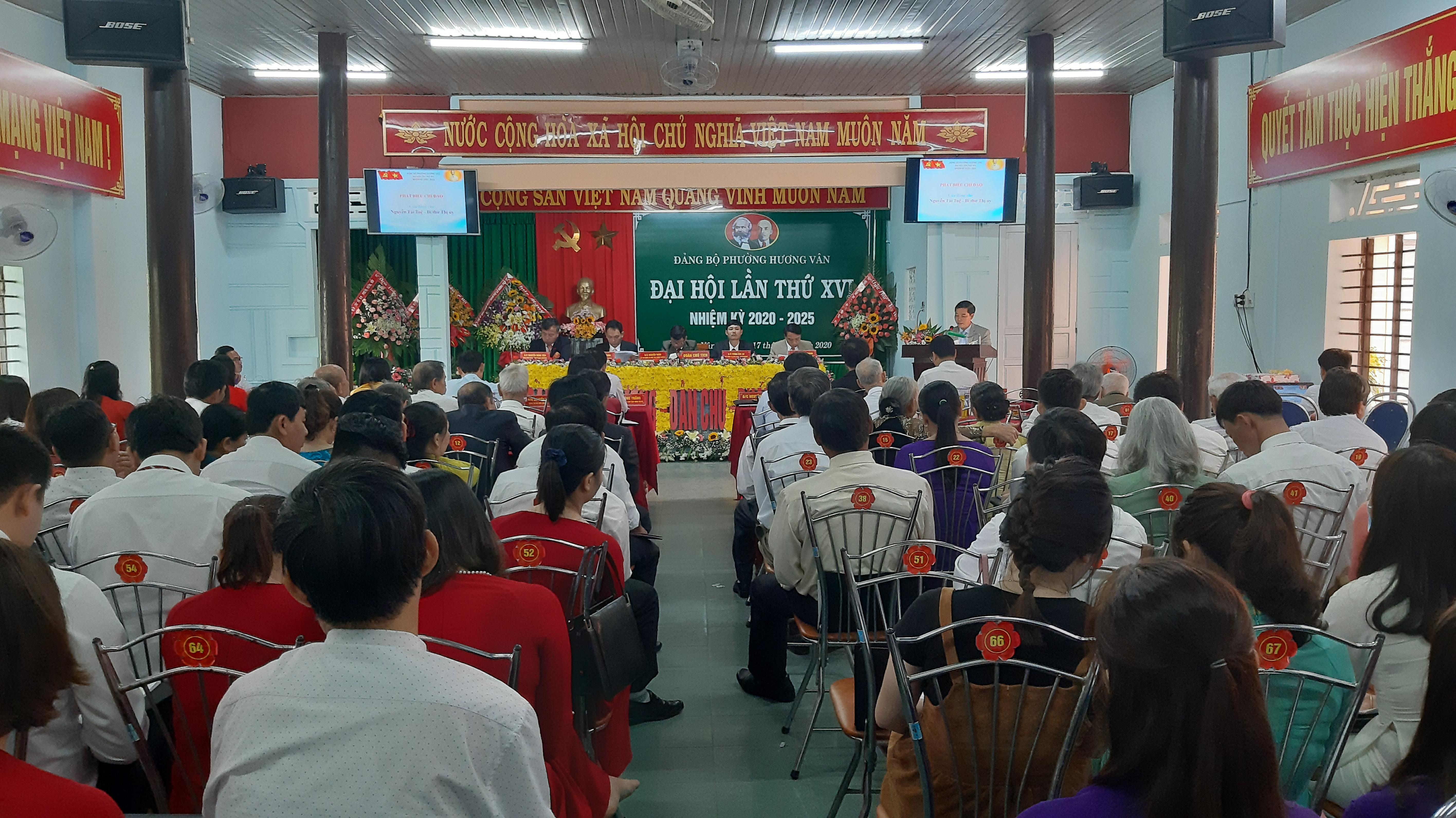 Đảng bộ phường Hương Vân: Đại hội Đảng bộ lần thứ XVI, nhiệm kỳ 2020 - 2025