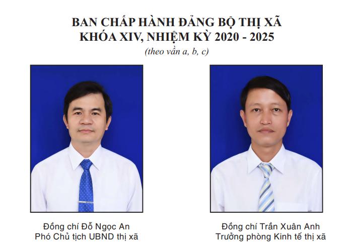 Ban chấp hành Đảng bộ thị xã khóa XIV, nhiệm kỳ 2020-2025