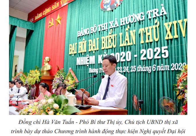 Chương trình hành động thực hiện Nghị quyết Đại hội Đảng bộ thị xã Hương Trà lần thứ XIV, nhiệm kỳ 2020-2025
