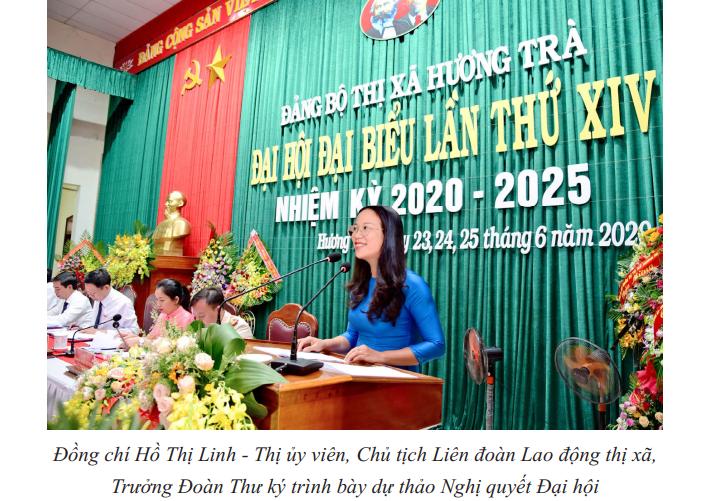 Nghị quyết Đại hội đại biểu Đảng bộ thị xã Hương Trà lần thứ XIV, nhiệm kỳ 2020-2025