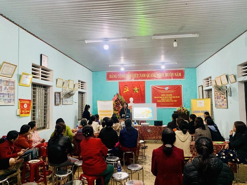 Hội LHPN thị xã Hương Trà phối hợp với công ty TNHH đầu tư và hợp tác Quốc tế Daystar tổ chức truyền thông về xuất khẩu lao động