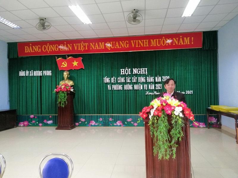 Đảng ủy xã Hương Phong tổng kết công tác xây dựng Đảng năm 2020